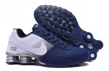 best sneakers b45f6 6b758 Nike Shox Deliver Men Shoes Fade Dark Blue silver Casual Trainers Sneakers  317547
