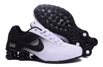 finest selection c6c6e da9f9 Nike Shox Deliver Men Shoes Fade White Black Casual Trainers Sneakers 317547