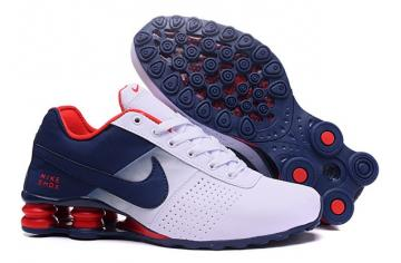 premium selection c064b 8b350 Nike Shox Deliver Men Shoes Fade White Dark Blue Red Casual Trainers  Sneakers 317547