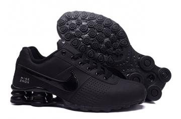 8bddb72624e86 Nike Shox Deliver Men Shoes Total Black Casual Trainers Sneakers 317547