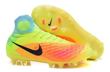 f0a1de69be27 Nike Magista Obra II FG Soccers Football Shoes Volt Black Thermoinduction  Colorful