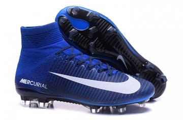 2cb412bece379c NIke Mercurial Superfly V FG ACC Kids Soccers Shoes Royal Blue Black White