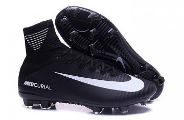 9bd4d7ada15b Nike Mercurial Superfly V FG ACC Kids Soccers Shoes All Black White