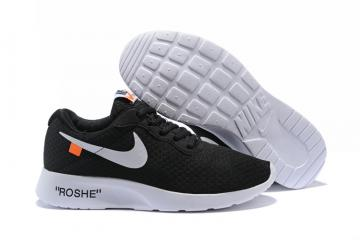 3e31dbd3c2cea Off White Nike Tanjun Running Shoes Black Silver 812654