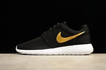 f5ca439e3389 Nike Roshe Run One Casual Shoes Black Gold Sail 844994-996