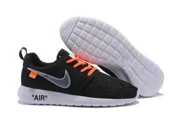 20dc111737b1 Off White Nike Roshe One BR Running Shoes Black Orange 718552