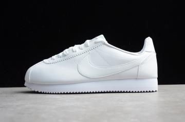 cc1fe0bedad3e7 Nike CLASSIC CORTEZ Leather Casual Shoes All White 808471-102