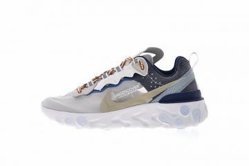 1403bc39e0949 Undercover x Nike React Element 87 White Cream Blue AQ1813-343