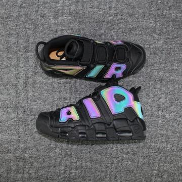 a4000011cef Nike Air More Uptempo Basketball Unisex Shoes Black Colored 922845-001