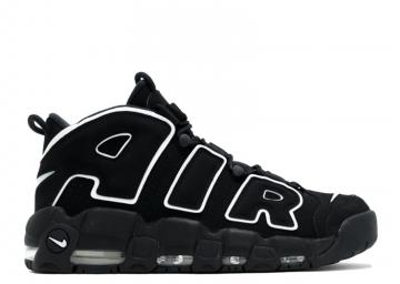 official photos 64e4f d3fc0 Nike Air More Uptempo Basketball Unisex Shoes Black White 414962-002