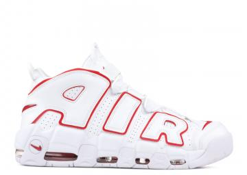 8b15f4c3d Nike Air More Uptempo Basketball Unisex Shoes Varsityred White 921948-102