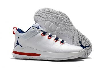 f283d4a2d41ef9 Nike Air Jordan CP3 X Elite Men Basketball Shoes White Blue Red 897507