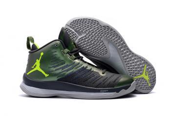 17aa051e32af Nike Jordan Super Fly 5 Green Black Grey Men Shoes 850700