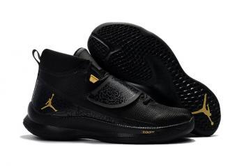 75fbd9931cf Nike Jordan Super Fly 5 PO X Griffin black metal gold black men basketball  shoes 914478-015