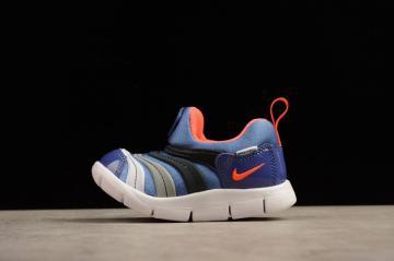 d30c756f6114 Nike Dynamo TD Blue Black Grey Orange Polk Dot Preschool Shoes 343938-502