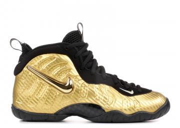 1ede9f2357 Nike Little Posite Pro GS Black Gold Metallic 644792-701