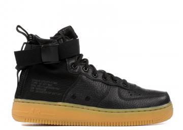 detailed look 91e06 ee675 Nike Sf Af1 Mid GS Light Black Gum Brown AJ0424-001