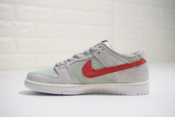 bcc2251985e4 Nike SB Dunk Low PRO QS White Widow Wolf Grey Light Green Crimson AQ2206-166