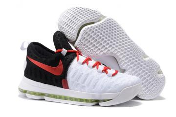 ... Nike KD 9 Kevin Durant Men Basketball Shoes White Black Red 843392  stable quality a0018 cb22d ... eadfcb271