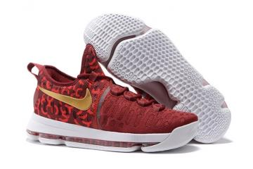 891a99dc4b56 Nike Zoom KD 9 EP IX Kevin Durant Men Basketball Shoes Wine Metalic Gold  843392