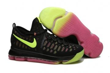 2715451e19af Nike Zoom KD 9 EP IX Kevin Durant Unlimited Olympic Men Basketball Black  Flu Green Pink Shoes 843392-999