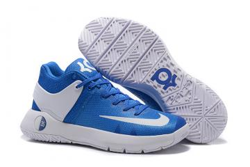 b1ad955c363 Nike Zoom KD Trey 5 IV Blue White Wave Point Men Basketball Shoes 844571