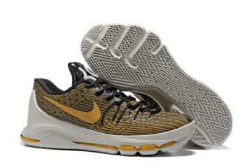 the latest 0d278 a8929 Nike KD 8 EP VIII Sabertooth Tiger Kevin Durant Yellow Men Basketball Shoes  Black Gold 800259-880