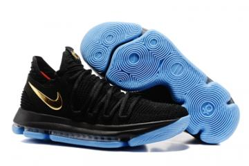 Nike Zoom KD X 10 Men Basketball Shoes Black Blue Gold New 6ba475936