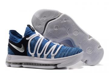 1813d7df ... discount nike zoom kd x 10 men basketball shoes white grey new 1d543  913b3