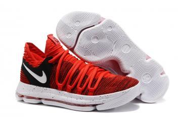 3d45cc38b685 Nike Zoom KD X 10 Men Basketball Shoes Chinese Red White Black
