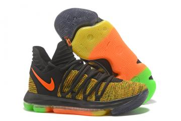 Nike Zoom KD X 10 Men Basketball Shoes Gold Orange Colored dc1501104