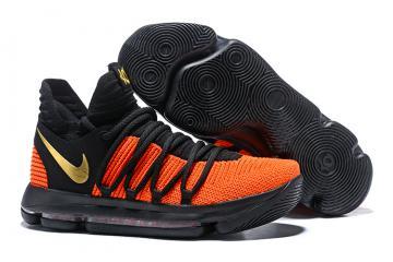27e2d98c4942 Nike Zoom KD X 10 Men Basketball Shoes Orange Black Gold