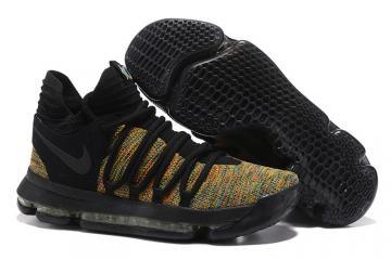 d48bcb32483c Nike Zoom KD X 10 Polychrome Black Men Basketball Shoes
