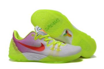 64d26db203d Nike Men Kobe Venomenon 5 Dreams White Flu Green Red 815757 404
