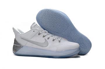 9c6b78a38cb6 Nike Zoom Kobe XII AD Pure White Metal Silver Black Men Shoes Basketball  Sneakers 852425