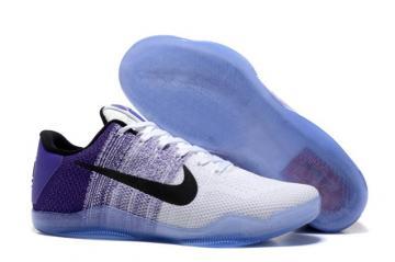 67307ec0d3c0 Nike Kobe XI 11 Elite Low White Bright Purple Black Men Basketball Shoes  822675