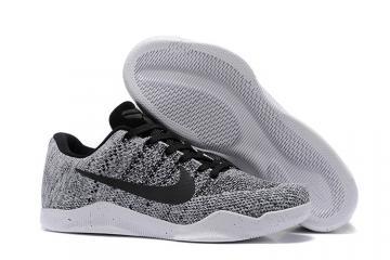 96e12aa611 Nike Zoom Kobe XI 11 Elite PE Low Men Basketball Shoes Oreo White 822675-100