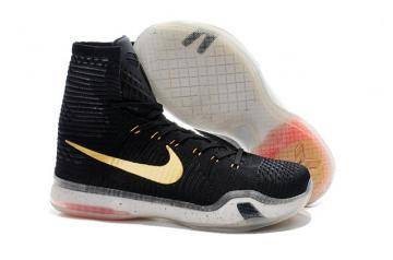 cheaper 03940 aebab Nike Kobe 10 X Elite High Rose Gold Black What The BHM Men Shoe 718763 091