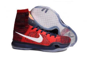 new style c8bfe ec250 Nike Kobe X 10 Elite High American USA University Red Shoes 718763 614