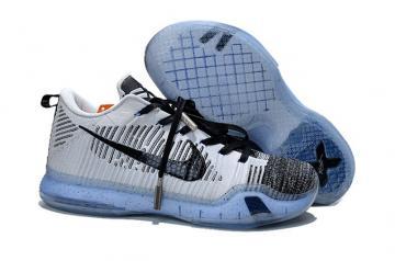 free shipping 205eb 88f8b Nike Kobe 10 X Elite Low HTM PRM Oreo Black White Flyknit 805937 010