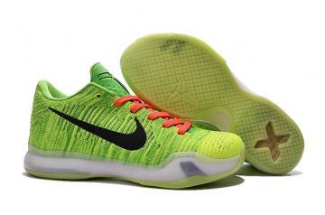 d4a881c76e6a Nike Kobe X 10 Elite Low Flyknit Coal Hearted QS Nikeid Crinch Green 802817  901 New