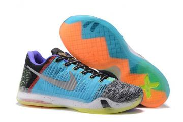 new product daa57 09b6d Nike Kobe X 10 Elite Low What The Multicolor Mamba Men Shoes NBT 802817