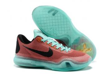 78c26b36c1b2c Nike Kobe X EP Basketball Shoes ZK 10 Easter Hot Lava Artesian Teal 745334  808
