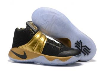 cheaper f1eaf 19bdd Nike Kyrie 2 Limited Edition Black 24kt Gold tone Handcrafted Sneakers Drew  League 843253-995