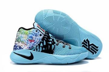 b11eab7ccc4d Nike Kyrie II 2 Tie Dye Effect Light Blue Black Multi Color Shoes 819583  Unisex