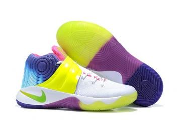 purchase cheap 55578 40519 Nike Kyrie 2 II EP Rainbow Men Shoes White Flu Green Multi Color 849369 995