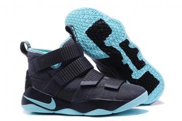 cd4d7e4e0ad Nike Zoom LeBron Soldier XI 11 Men Basketball Shoes Black Sky Blue 897645
