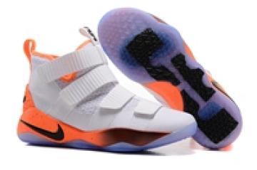 c9c9addbd7e Nike Zoom LeBron Soldier XI 11 Men Basketball Shoes White Orange Black  897645