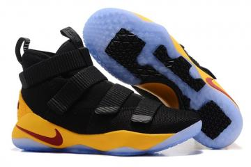 83b1ad77d84 Nike Zoom Lebron Soldier XI 11 Black Yellow 897647-007