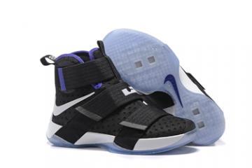 premium selection 592cf 0ad8e Nike Lebron Soldier 10 EP X Men Black White Basketball Shoes Men 844380